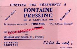 33- FONTAINE BORDEAUX- RARE BUVARD FONTAINE PRESSING- R. BARBASSAT-24 AVENUE DU VERCORS- TEINTURE - Textilos & Vestidos