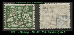 Mi. Nr. 154 In Gebraucht - Geprüft - DANZIG 1 N - Danzig
