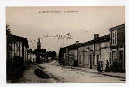 - CPA VILLIERS-EN-LIEU (52) - La Grande-Rue 1916 - Edition A. Gauthier - - France