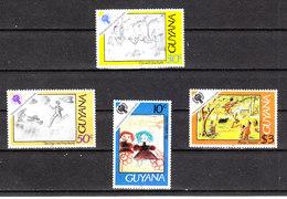 Guyana   -  1979. Anno Gioventù: Disegni Infantili. Youth Year: Childish Drawings. Complete MNH Series - Infanzia & Giovinezza