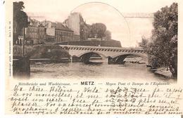 CP. De METZ (Moyen Pont Et Rampe) Du 27/7/1882 Ambt. METZ-COBLENCE V/Château De SANEM (GDLux.) - Alsace-Lorraine