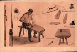 64 AU PAYS BASQUE SANDALIER ET DOCUMENTS BASQUES CIRCULEE 1950 - Artisanat