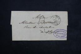 FRANCE - Lettre De Blidah Pour Alger En 1849 - L 23800 - Poststempel (Briefe)