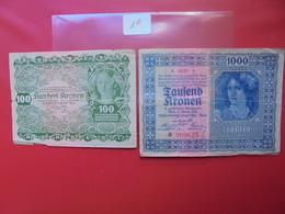"""LOT 2 BILLETS """"AUTRICHE""""  CIRCULER - Monnaies & Billets"""