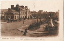 CPA  ( 14 ) PONT-AUDEMER  : La Gare . - Caen