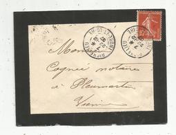 Lettre , 1907, RICHELIEU , Indre Et Loire , POITIERS , Vienne  , 3 SCANS - 1877-1920: Période Semi Moderne