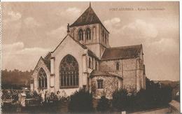 CPA  ( 14 ) PONT-AUDEMER  : L'église Saint-Germain . - Caen