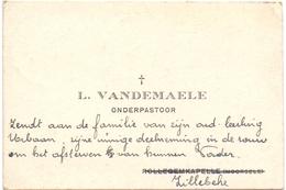 Visitekaartje - Carte Visite - Onderpastoor L. Vandemaele - Zillebeke ( Rollegem Kapelle Moorsele ) - Cartes De Visite