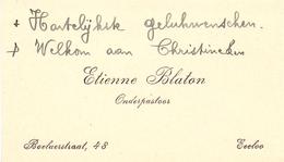 Visitekaartje - Carte Visite - Onderpastoor Etienne Blaton - Eeklo - Cartes De Visite
