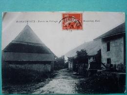 38 ,romagnieux ,l'entrée Du Village En 1914.......rare - France