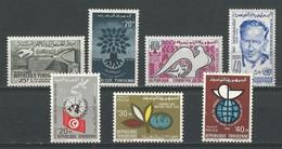Tunisie: 464 + 502/ 503 + 540 + 559/ 561 ** - Tunisie (1956-...)