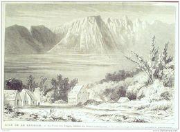 GRAVURE-FRANCE-LA REUNION-THEATRE PITON Des NEIGES De L'ILE-1077-1869 - Prints & Engravings