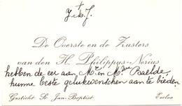 Visitekaartje - Carte Visite - Overste & Zusters H. Philippus Nérius - Eeklo - Cartes De Visite