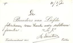 Visitekaartje - Carte Visite - Broeders Van Liefde - Eeklo - Cartoncini Da Visita