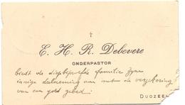 Visitekaartje - Carte Visite - Onderpastoor R. Debevere - Dudzele - Cartoncini Da Visita