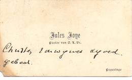 Visitekaartje - Carte Visite - Pastoor Jules Joye - Poperinge - Cartes De Visite