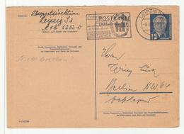 DDR, Versicherungsanstalt Sachsen Slogan Pmk On Postal Stationery Postkarte Travelled 1952 Leipzig Pmk B190220 - DDR