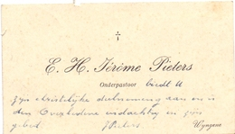 Visitekaartje - Carte Visite - Onderpastoor Jerome Pieters - Wingene - Cartoncini Da Visita