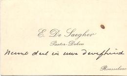 Visitekaartje - Carte Visite - Pastoor Deken E. De Saegher - Roeselare - Cartes De Visite