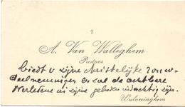 Visitekaartje - Carte Visite - Pastoor A. Van Walleghem - Wulveringem - Cartes De Visite