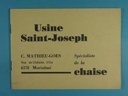 Usine Saint-Joseph Morialmé Mathieu-Goes Spécialiste De La Chaise - Old Paper