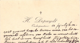 Visitekaartje - Carte Visite - Onderpastoor H. Depuydt - Knokke - Cartes De Visite