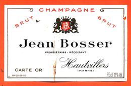 étiquette De Champagne Brut Jean Bosser à Hautvillers - 75 Cl - Champagner