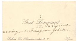 Visitekaartje - Carte Visite - Priester Gust Lamerant - Ieper - Cartes De Visite