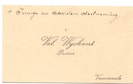 Visitekaartje - Carte Visite - Pastoor Val. Wyckaert - Vormezele - Cartes De Visite