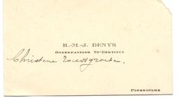 Visitekaartje - Carte Visite - Onderpastoor St Bertinus Poperinge - R.M.J. Denys - Cartes De Visite