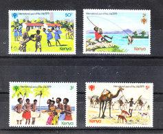Kenya  -  1979. Giochi Di Bimbi: Pesca, Cammello. Games For Children: Fishing, Camel. MNH Complete Set - Giochi