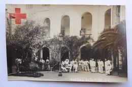 Cpa Photo, Croix Rouge, Alexandrie, Egypte, Hôpital Européen, WW1, 25 Décembre 1915, Les Convalescents Dans La Cour - Croix-Rouge