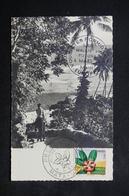 WALLIS ET FUTUNA - Oblitération 1er Jour De La Flore D 'Outremer Sur CP En 1958 , Cachet Europe 1 Au Verso - L 23814 - Covers & Documents