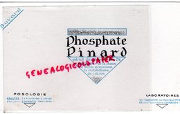 92- COURBEVOIE- RARE BUVARD PHOSPHATE PINARD-OS- CHAUX- CALCIUM- PHARMACIE-LABORATOIRES DOCTEUR PINARD-88 BD SAINT DENIS - Produits Pharmaceutiques