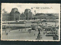 CPA - OSTENDE - La Gare Maritime, Animé - Oostende