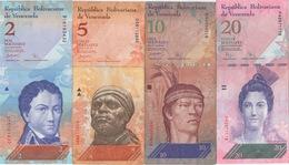Venezuela : Série De 4 Billets 2-5-10-20 Bolívares 2007-2009 - Venezuela