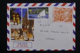 POLYNÉSIE - Enveloppe Touristique De Papeete Pour La France 1993 , Affranchissement Plaisant - L 23820 - Lettres & Documents