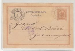 Austria Postal Stationery Postcard Dopisnica Travelled 1900 St. Peter To Oberburg Gornji Grad B190220 - Slovenia