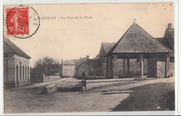 CPA- SANTIGNY - Un Coin De La Place-1909- Dép89-2scans - Frankrijk
