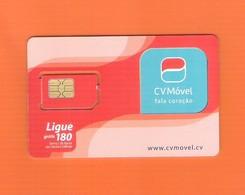 """GSM  CABO VERDE """"CV MÓVEL"""" RARE - PASTED GSM - Télécartes"""