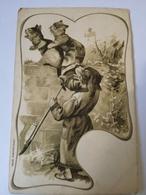 Embossed - Prage - Relief // Humor Cats And Dog Ca 1900 - Postkaarten
