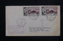 WALLIS ET FUTUNA - Enveloppe De Mata Utu Pour Le Japon En 1954 , Affranchissement Plaisant - L 23831 - Covers & Documents