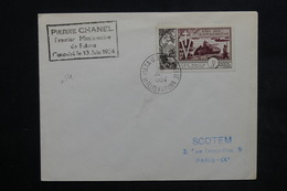 WALLIS ET FUTUNA - Enveloppe De Mata Utu Pour Paris En 1954 , Affranchissement Plaisant - L 23832 - Covers & Documents