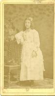 ( FILLE ) ( 1876 )  ( PHOTO ESTROGA  )( 14 CALVADOS )( TROUVILLE SUR MER ) - Photos