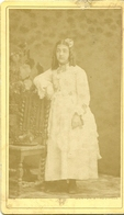 ( FILLE ) ( 1876 )  ( PHOTO ESTROGA  )( 14 CALVADOS )( TROUVILLE SUR MER ) - Fotos
