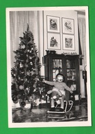 Bambini Enfants Children Su Cavallo A Dondolo Foto Anni '60 Disney Natale - Persone Anonimi