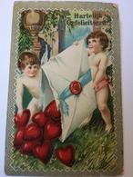 Cupids And Hart's // Hartelijk Gefeliciteerd 1910 - Postkaarten