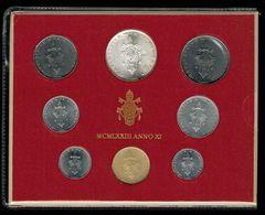 500 Lire Argento + 7 Monete Città Del Vaticano Papa Paulus VI 1973 Con Busta - Vaticano