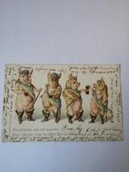 Pigs Having Fun (Studentica?) Used NL 1900 - Postkaarten