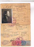 FRANCE CARTE IDENTITE 1943 BONIS  CARMEN   GOURDAN POLIGNAN   CH49 001 - Documents Historiques